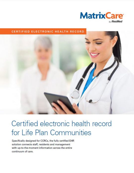 Matrixcare-ccrc-life-plan-community-clinical-brochure